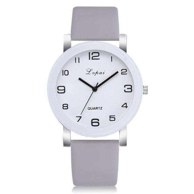 Luxury 2018 Women's Watch Casual Quartz Leather Band Analog Wrist Watch Analog Q