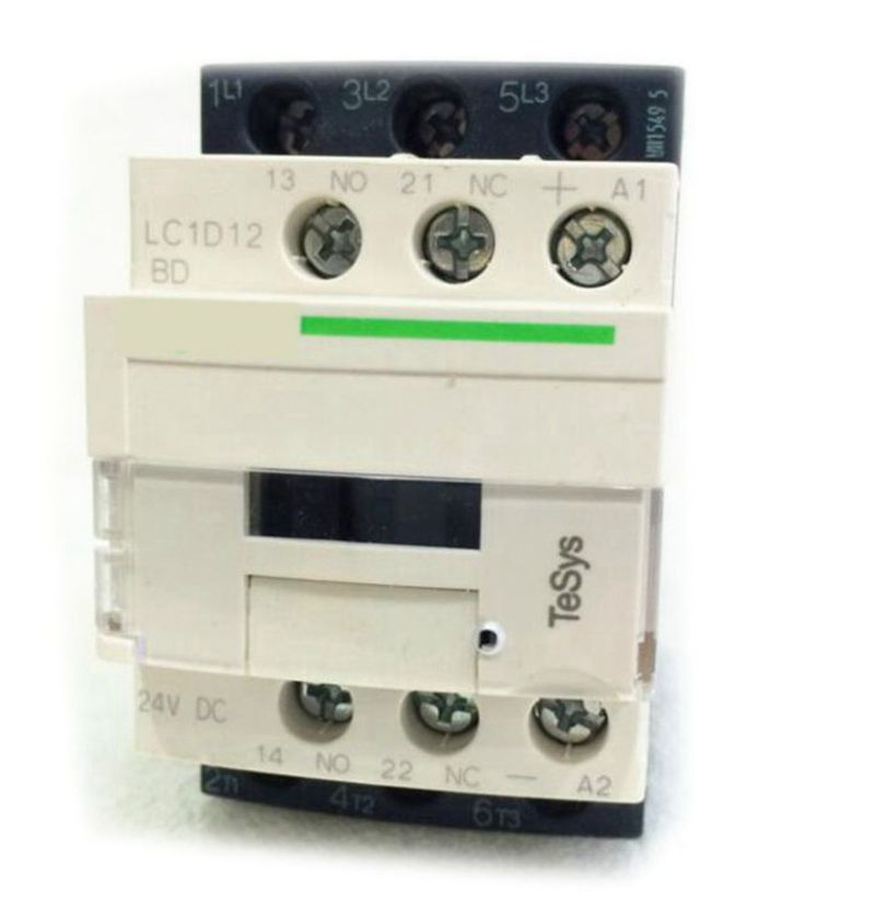 LC1D12BDC Contactor TeSys D 12A DC 24V New LC1-D12BDC new cad50bdc dc24v tesys d series contactor control relay 5no 0nc