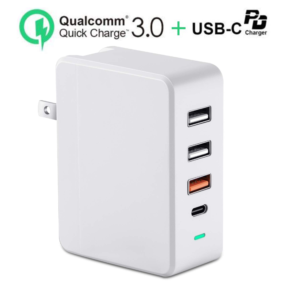 Adapter Station Wall-Charger Power-Delivery Type-C Smartphone 18W Usb C 4 For 4-Port