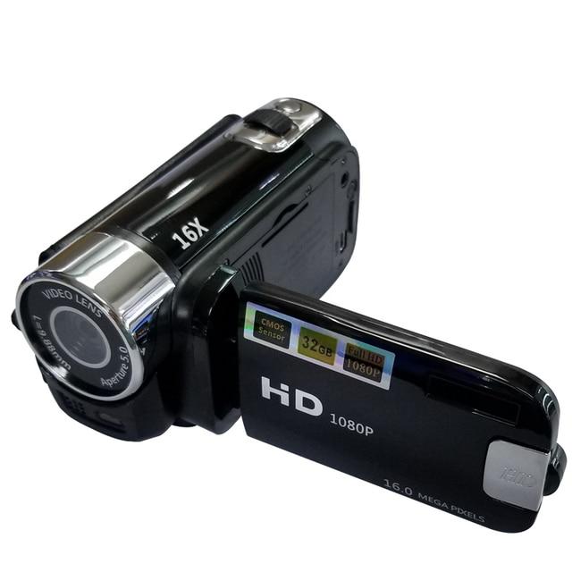Full HD 1080P Цифровая видеокамера 2,7 дюймов ЖК экран Цифровая камера 16X цифровой зум анти встряхивание DV DVR видеокамера