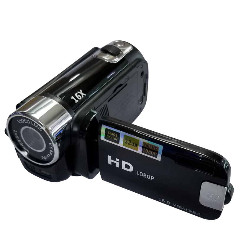 Full HD 1080P Digital Video Camera 2.7inch LCD Screen Digital Camera 16X Digital Zoom Anti shake DV DVR Video Recorder Camcorder-in Point & Shoot Cameras from Consumer Electronics