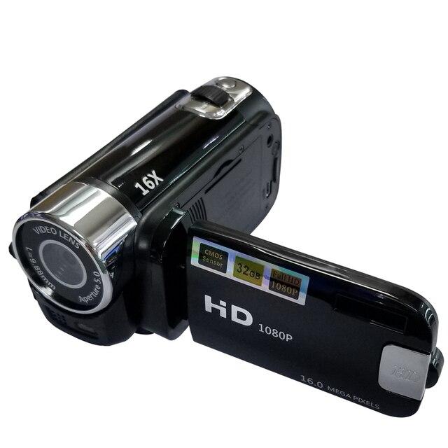 풀 HD 1080P 디지털 비디오 카메라 2.7 인치 LCD 화면 디지털 카메라 16 배 디지털 줌 손떨림 방지 DV DVR 비디오 레코더 캠코더