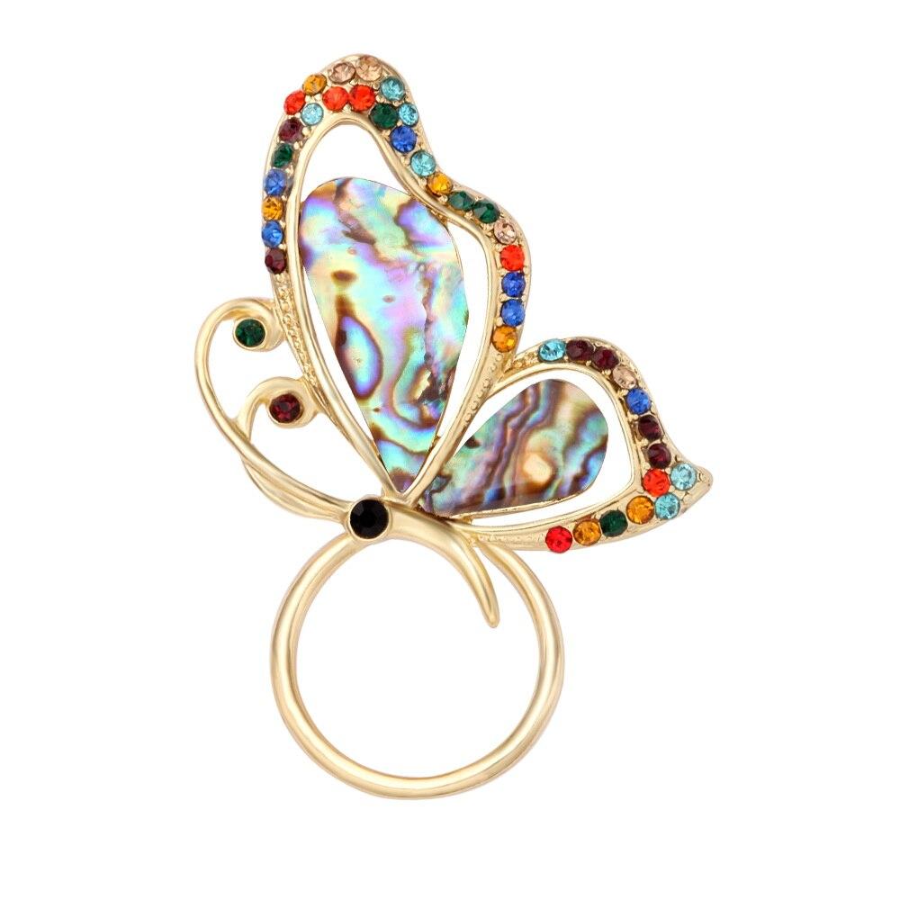 Новое поступление ушка Пауа В виде ракушки бабочка магнит брошь идеальный подарок держатель для очков Бесплатная доставка