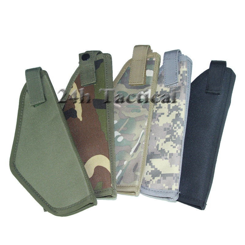 Tactical Molle Right Handed Waist Pistol Holster Utility Airsoft Hunting Nylon Pouch