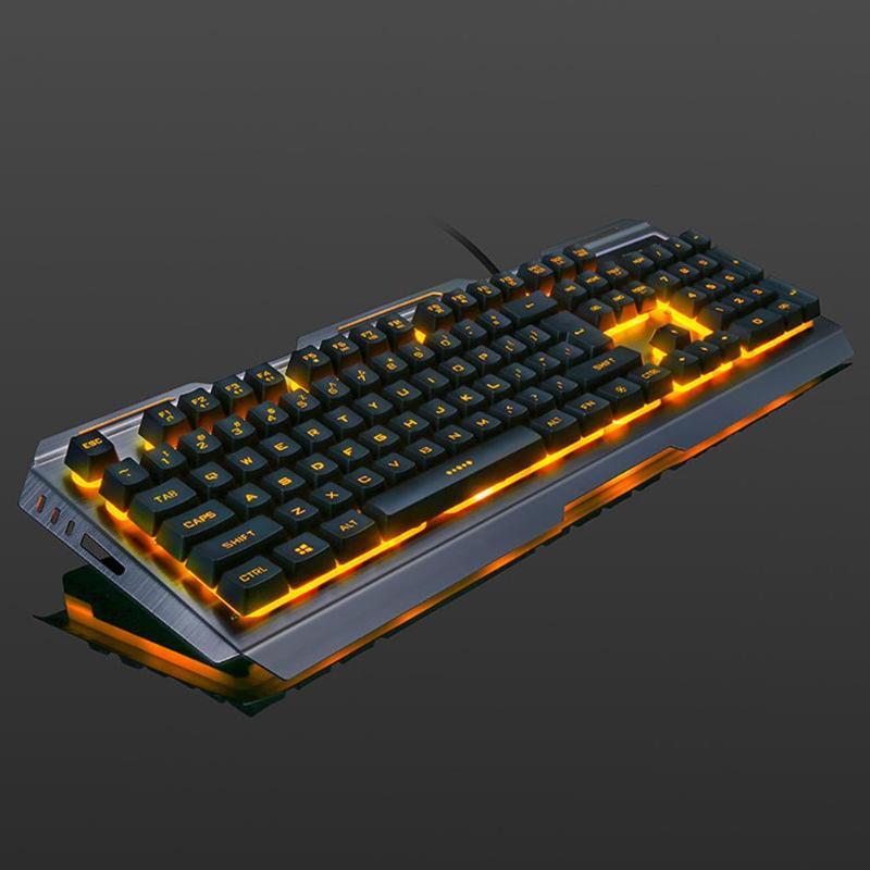 VKTECH 104 keys Gaming Mechanical Keyboard Mouse Set USB Wired
