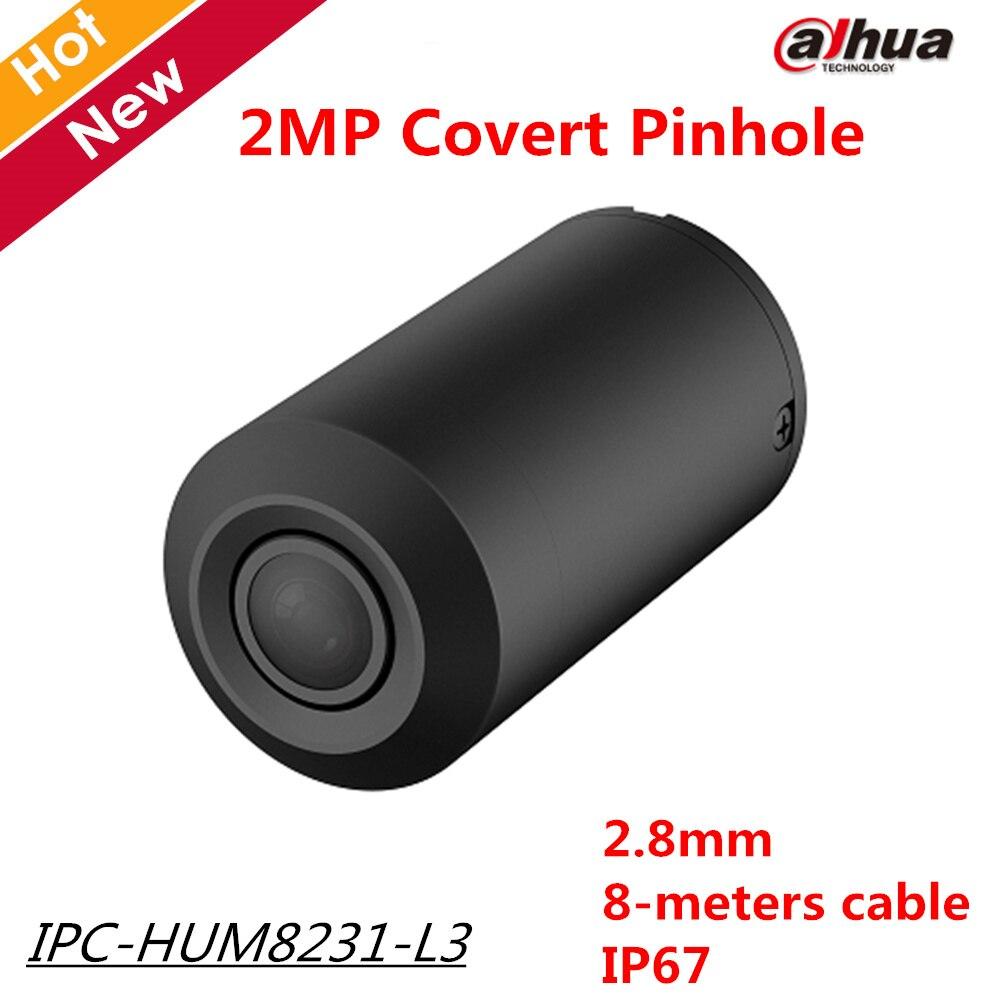 2018 New 2MP Dahua 2.8mm Fixed Pinhole Lens Covert Pinhole Network Camera-Lens Unit 1/2.8 CMOS IP67 Day Night work with Main box