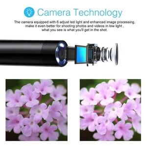 Image 5 - 2m 1.5m 1m Mini 5.5mm Lens Snake Endoscope Camera  Hard Semi rigid Borescope Car Inspection Camera for Smartphone Android PC