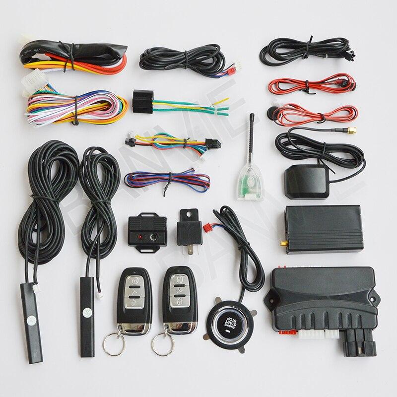 3 in 1 Car GPS GSM Tracker + Two Way Sistema di Sicurezza di Allarme Dell'automobile di PKE + Arresto di Inizio del Motore Push pulsante Supporto iPhone Android APP 2