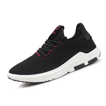 2017 New Mesh Running Shoes Breathable Summer men Sneakers lace up Sport Shoes Lightweight Athletics Walking non slip on Shoes
