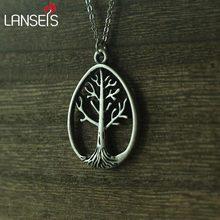 10ピースオーバル北欧生活の木のペンダントドラゴン魂ジュエリーユニークな形状新しいサイル Lanseis
