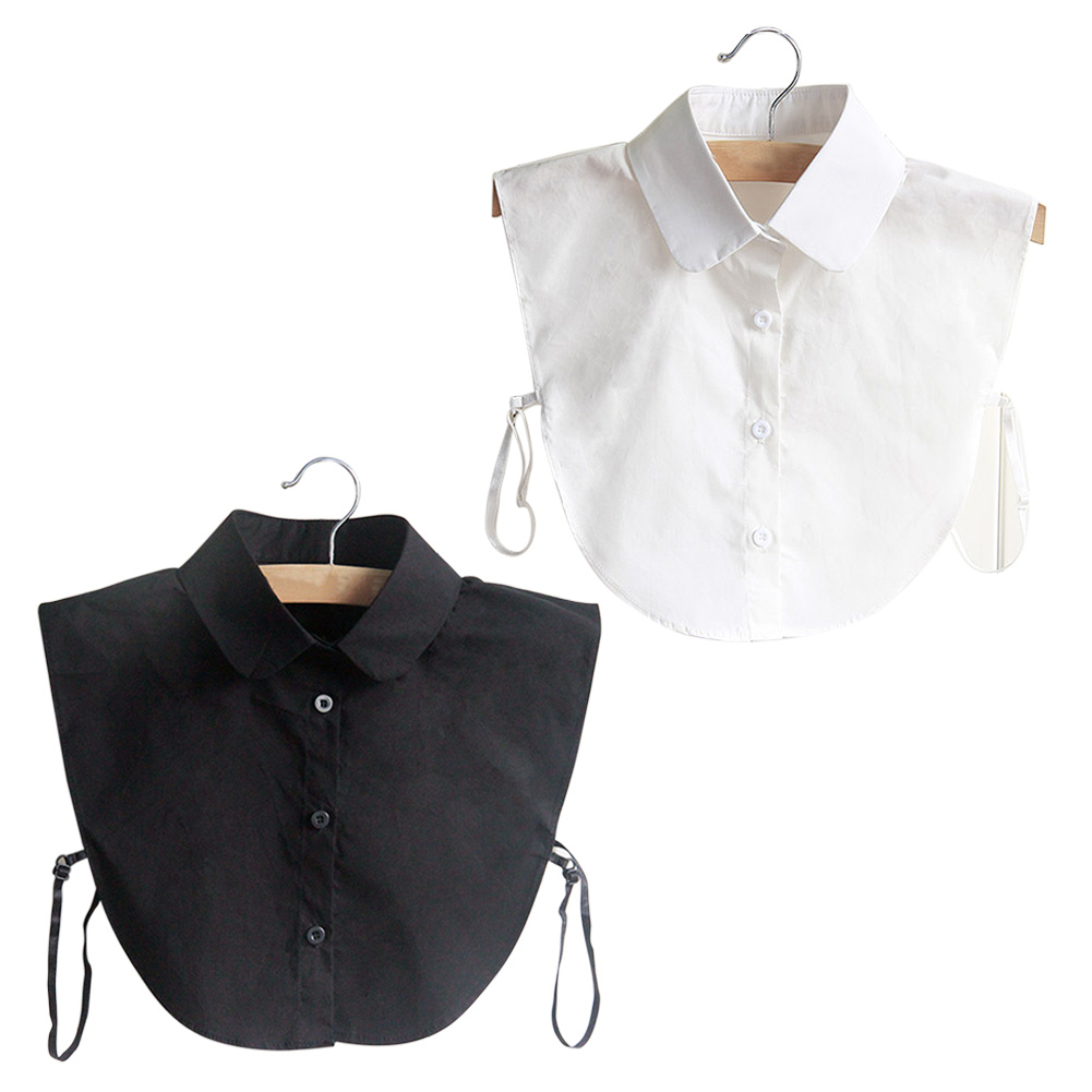 Fashion Korean Style Doll Collar Vintage Elegant Women's Fake Half Shirt Detachable Blouse  JL