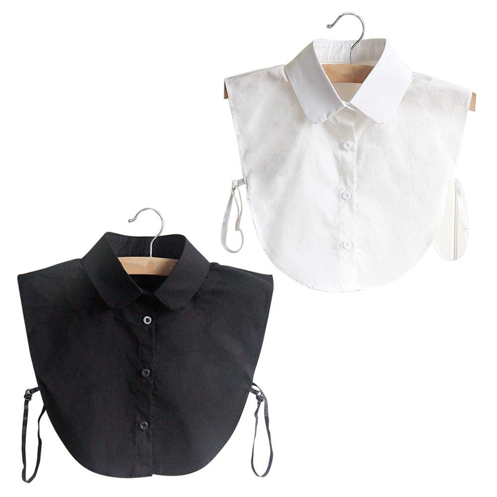 Fashion Korean Style Doll Collar Vintage Elegant Women's Fake Half   Shirt   Detachable   Blouse   JL