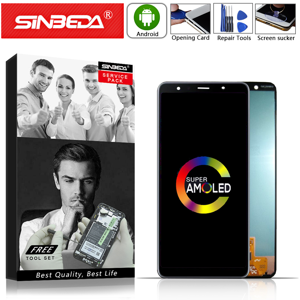 6.0Sinbeda AMOLED For SAMSUNG Galaxy A7 2018 LCD Display Touch Screen Digitizer For SAMSUNG A750 LCD A750 A750FD A750F Display@6.0Sinbeda AMOLED For SAMSUNG Galaxy A7 2018 LCD Display Touch Screen Digitizer For SAMSUNG A750 LCD A750 A750FD A750F Display@