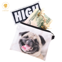 3D Skull Pug Dog  Phone Wallet