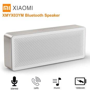 Xiaomi Kare Kutu 2 Olası Hoparlör Eller-serbest Bluetooth 4.2 Hoparlör Kablosuz Soundbox 1200 mAh Hoparlör Desteği AUX MIC