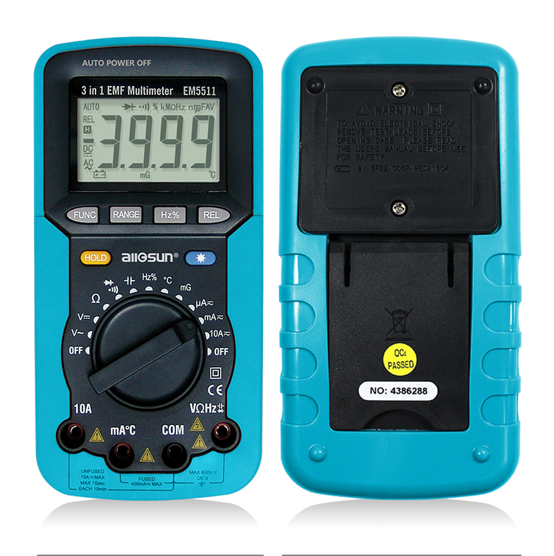 ALL SUN EM5511 3in1 Auto Range Digital Multimeter Voltmeter Ammeter - Mõõtevahendid - Foto 2
