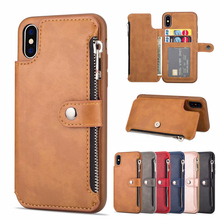 Luxury PU Leather Multi Card Holders Case For iPhone XR XS Max Back Cover Wallet Retro 6 6s 7 8 Plus X