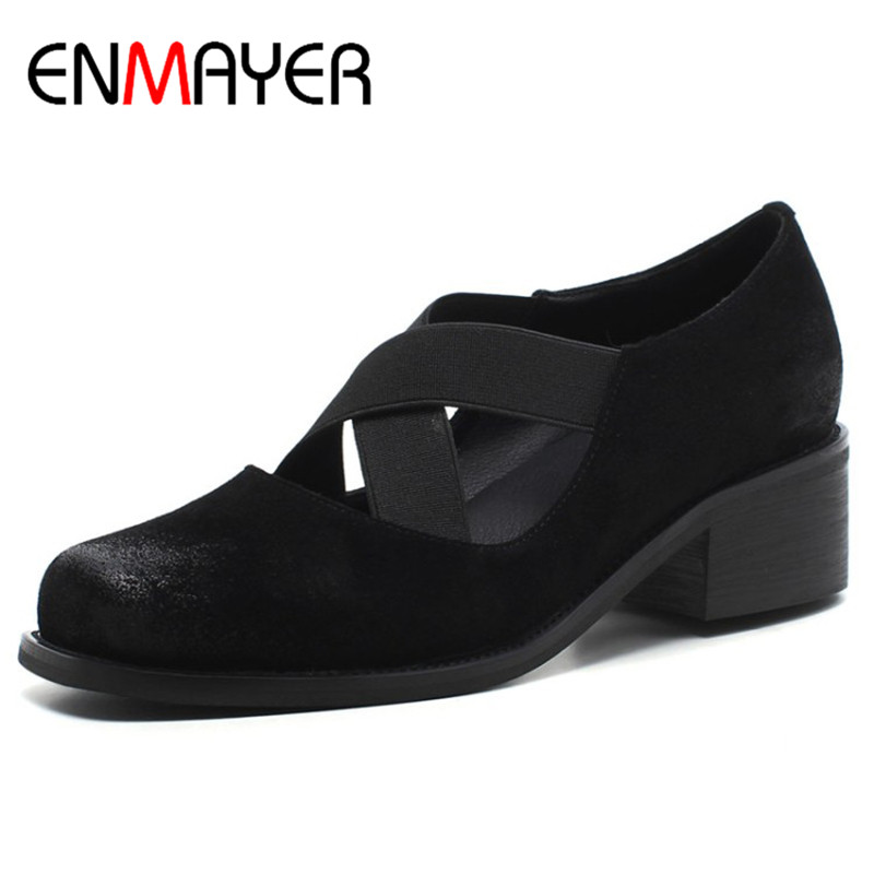ENMAYER Low Heels Pu...