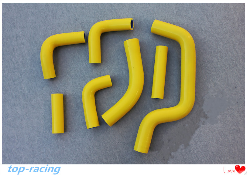 Yellow / blue 7 pieces Reinforced silicone radiator coolant hose for Yamaha FZ1 ABS 4-stroke DOHC 2001-2005 2002 2003 2004 велосипед format kids girl 14 2017