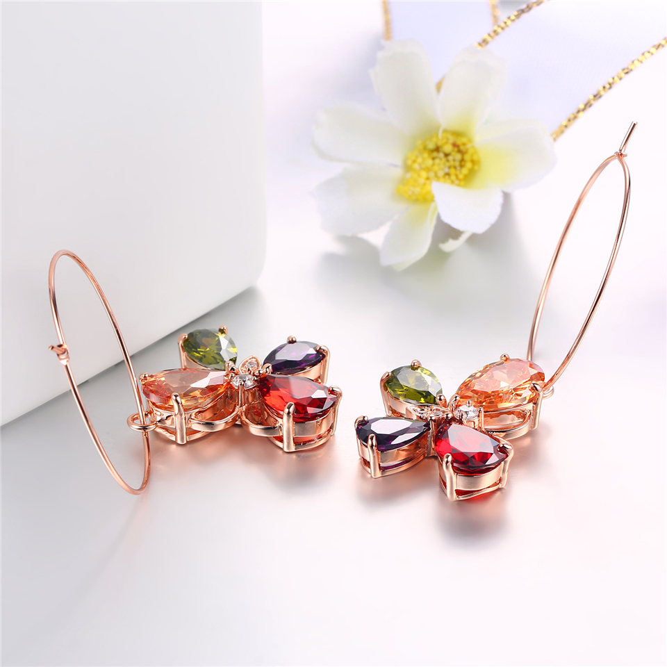 h PISSENLIT Clover Shape Drop Earrings Colorful Rhinestone Earrings Women Jewelry 2019 New Fashion Grace Summer Jewelry For Beach