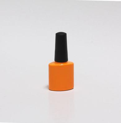 freeshipping 10ml10/20/30pcs/lot orange red empty glass nail polish bottle,with a lid brush cosmetics packaging nail bottle dispenser lid monin syrups 1833 syrups pump lid syrups dispenser monin glass bottle pump lid with high quality