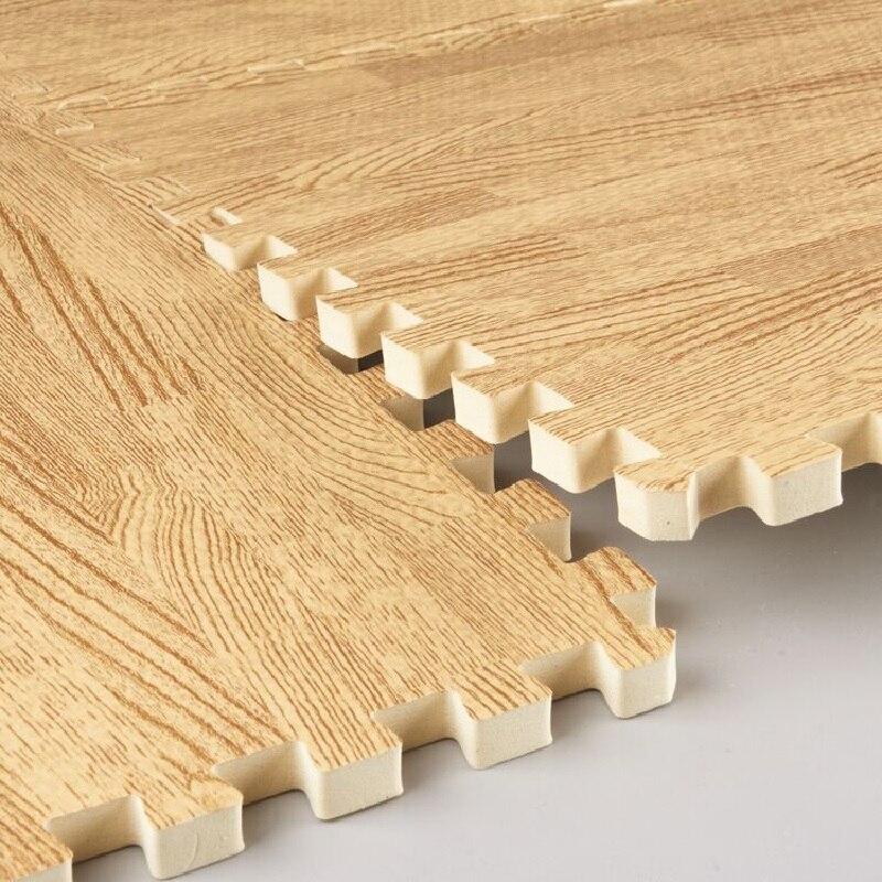 16 pcs Imitation bois grain mosaïque tapis En Mousse EVA Puzzle Tapis bébé Énigmes De Sol Tapis de Jeu Pour Enfants Bébé NON-TOXIC ramper tapis