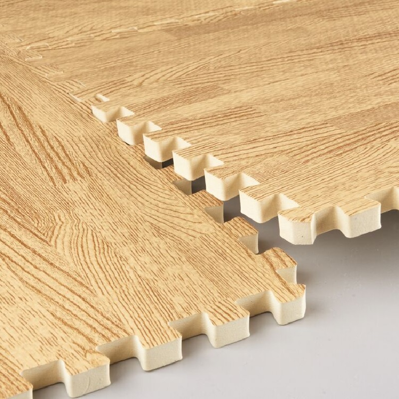 16PCS Imitation Wood Grain Mosaic Mat EVA Foam Puzzle Mats Baby Floor Puzzles Play Mat For Children Baby NON-TOXIC Crawling Rugs