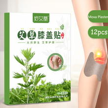 SHARE HO 12pcs Knee Moxa Plaster Self Heating Warming Chinese Moxibustion Wormwood Sticker Patches