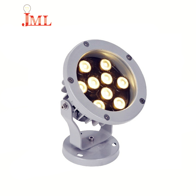 Factory direct price LED floodlight IP67 waterproof 9w DC24V ed rgb dmx plant spotlight