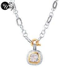 Ожерелье UNY, винтажное ожерелье с подвеской из Проволочной проволоки, подвески с проволочной проволокой, антикварное модное ожерелье с подвеской, винтажные ожерелья, подвески