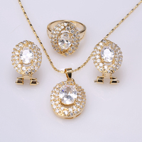 2017 New Style Special Offer Gems White Gold Filled Jewelry Sets Earring Pendant Size 6 7 8 9 S8622