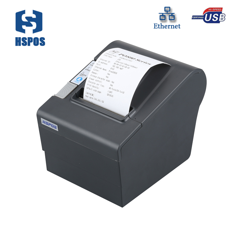cheap 80pos Ethernet thermal pos receipt printer with auto cutter support windows Ubuntu linux IOS Android The New listing mqtt could printing solution gprs 2 inch thermal receipt printer with usb lan port support win10 and linux auto cutter