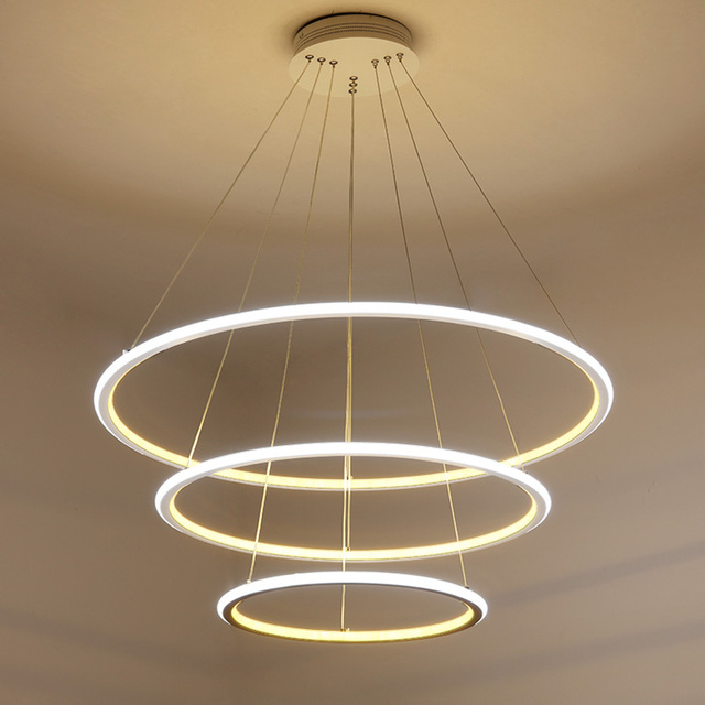 2017 Modern Circle Rings LED Simple Pendant Lights For Living Room ...