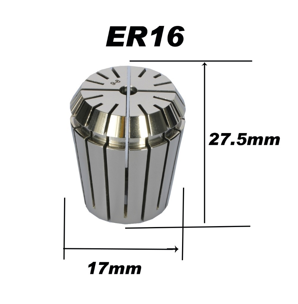 High precision ER16 Accuracy 0.008mm Spring Collet For CNC Milling Machine Engraving Lathe Tool Free Shipping 1 pc high precision cnc router engraving machine nut er collet accessory sparepart er16 nut