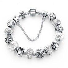 Silver Plated Handmade Charm Bracelets For Women Owl Star Charm Bracelets & Bangles Girl Pulseras SBR160084