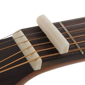 IRIN 1 Set Bone Bridge Pins Nail Nut Saddle Part For Acoustic Folk Guitar