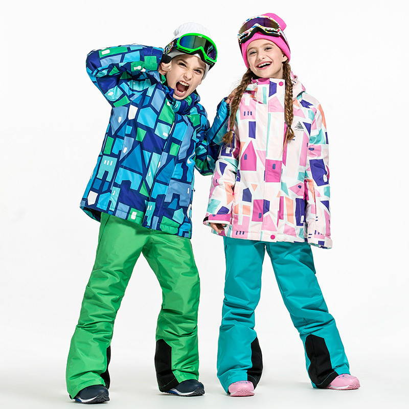 Ski Suit And Trousers Boys And Girls Delicacies Loved By All Thickening Cold Proof And Warm Clothing Intelligent Winter Childrens Ski Suit