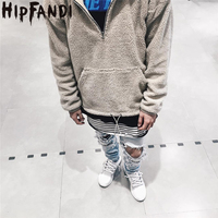 HIPFANDI 2018 New Arrival Fall And Winter Fashion Men Oversized Solid Hoodies Half Zipper Men Brand