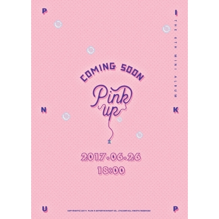 APINK 6TH MINI ALBUM - PINK UP (A VER) - Release Date 2017.06.23 Kpop lexington studios 24018g its a girl mini album