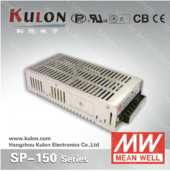 Original Mean well SP-150 Single Output 150W 24V 6.3A Meanwell SP-150-24 Power Supply with PFCOriginal Mean well SP-150 Single Output 150W 24V 6.3A Meanwell SP-150-24 Power Supply with PFC