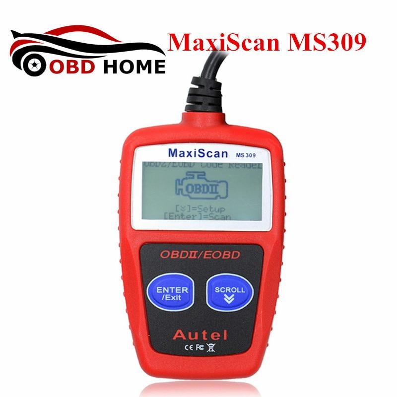 Prix pour MaxiScan MS309 OBD2 OBDII Scanner CAN BUS Lecteur de Code De Voiture Outil De Diagnostic MS309 MaxiScan MS 309