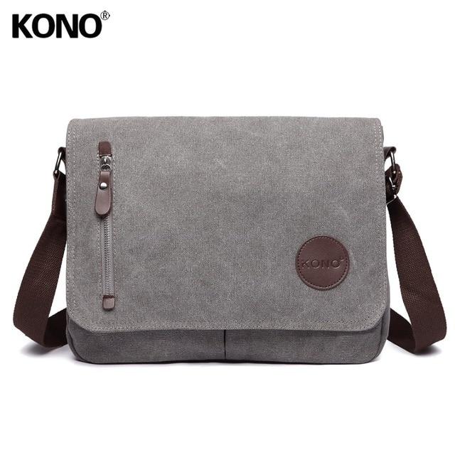 Kono Women Men Messenger Bags School Bag For Agers S Boys College Student Canvas Zip Cross