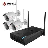 IMPORX Hik CCTV Security Camera System CCTV Camera System CCTV 4CH NVR 720P Wireless Security Camera