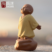 Coffee Tea Tools Yixin Purple Tea Pet Chinese Accessories Monk Tea Play Clay Ceramic Coffee Tools