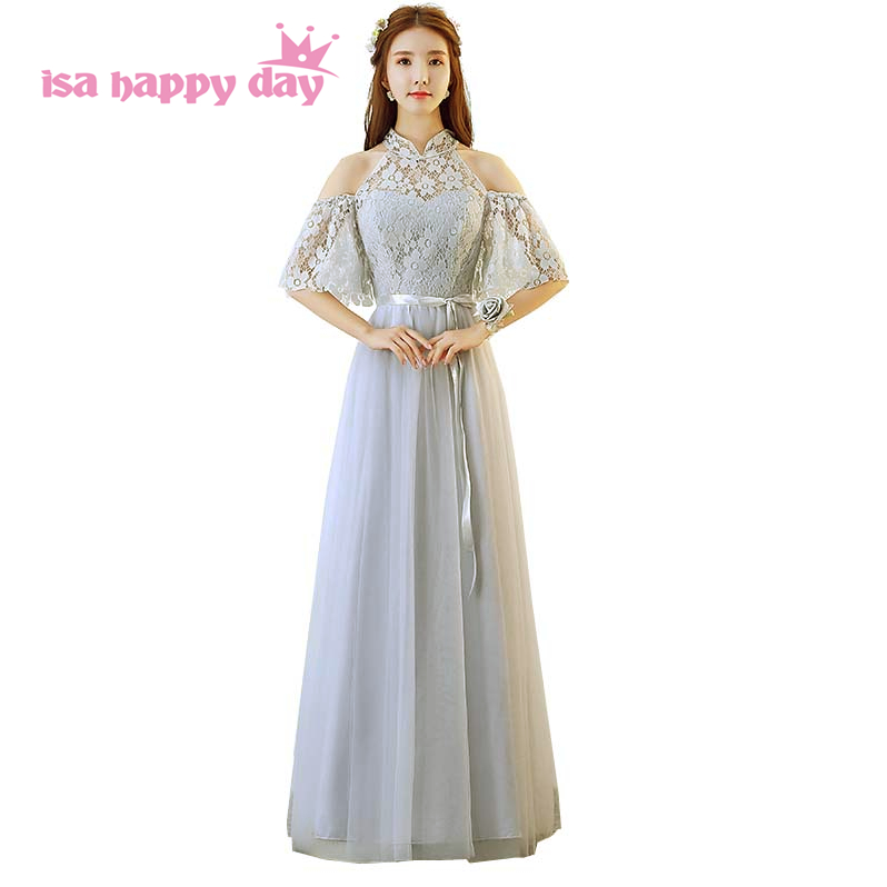 gray tulle womens long formal gown lace up prom dresses women ...