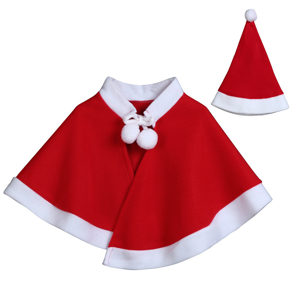 ISHOWTIENDA Hooded Christmas Costume Cosplay Cape outwear Cloak hat Baby girls coats and jackets Childrens jacket boys clothes
