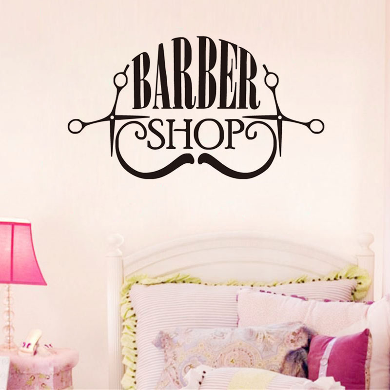 Парикмахерская стены винила Стикеры волос составляют магазин логотип Книги по искусству наклейки Съемный Высокое качество наклейки на сте...