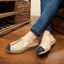 Men Casual Shoes 2018 Summer Handmade Breathable Hemp Concise Soft Flat Fashion Mens Loafers