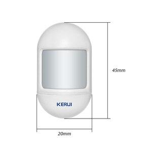 Image 5 - KERUI Mini alarma de Sensor de movimiento PIR inalámbrico, Detector con base giratoria magnética para sistema de alarma de seguridad para el hogar G18 W18