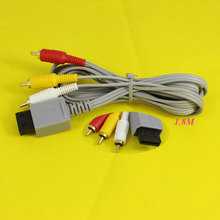 High Quality For Nintendo For Wii Game Console Accessories 1.8m 6FT Audio Video AV /TV Composite RCA Cable Cord Grey